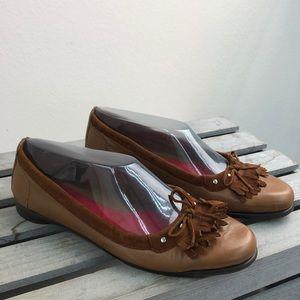 Aerosoles Brown Leather Ballet Flats Size 8